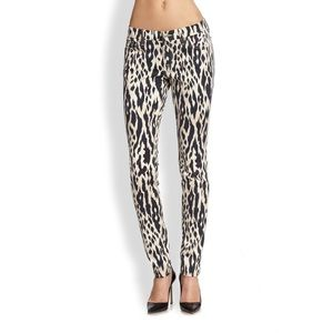 7 For All Mankind Animal Print Skinny Jeans